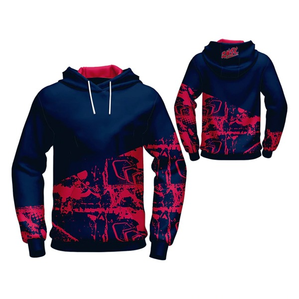 Blue with Pink Art Sublimation Hoodie AFYM-5025