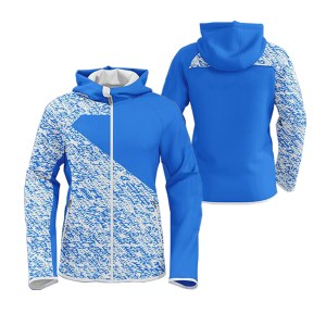 Blue with White Art Sublimation Hoodie AFYM-5022