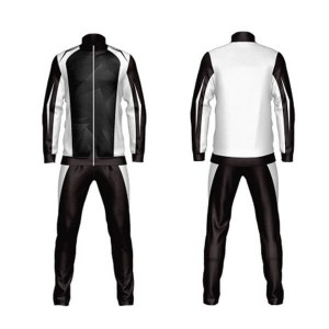 Custom Black and White Shaded Sublimation Tracksuit AFYM:1041