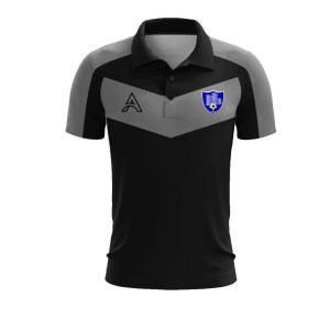 Custom Grey and Black with Paneling Polo Shirt AFYM-4008