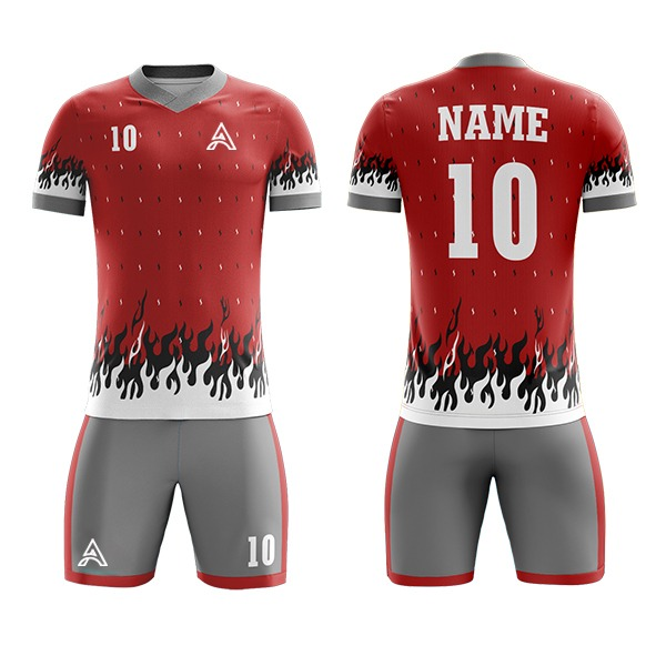 Sublimation Soccer Kit with Fire Icon AFYM:2093