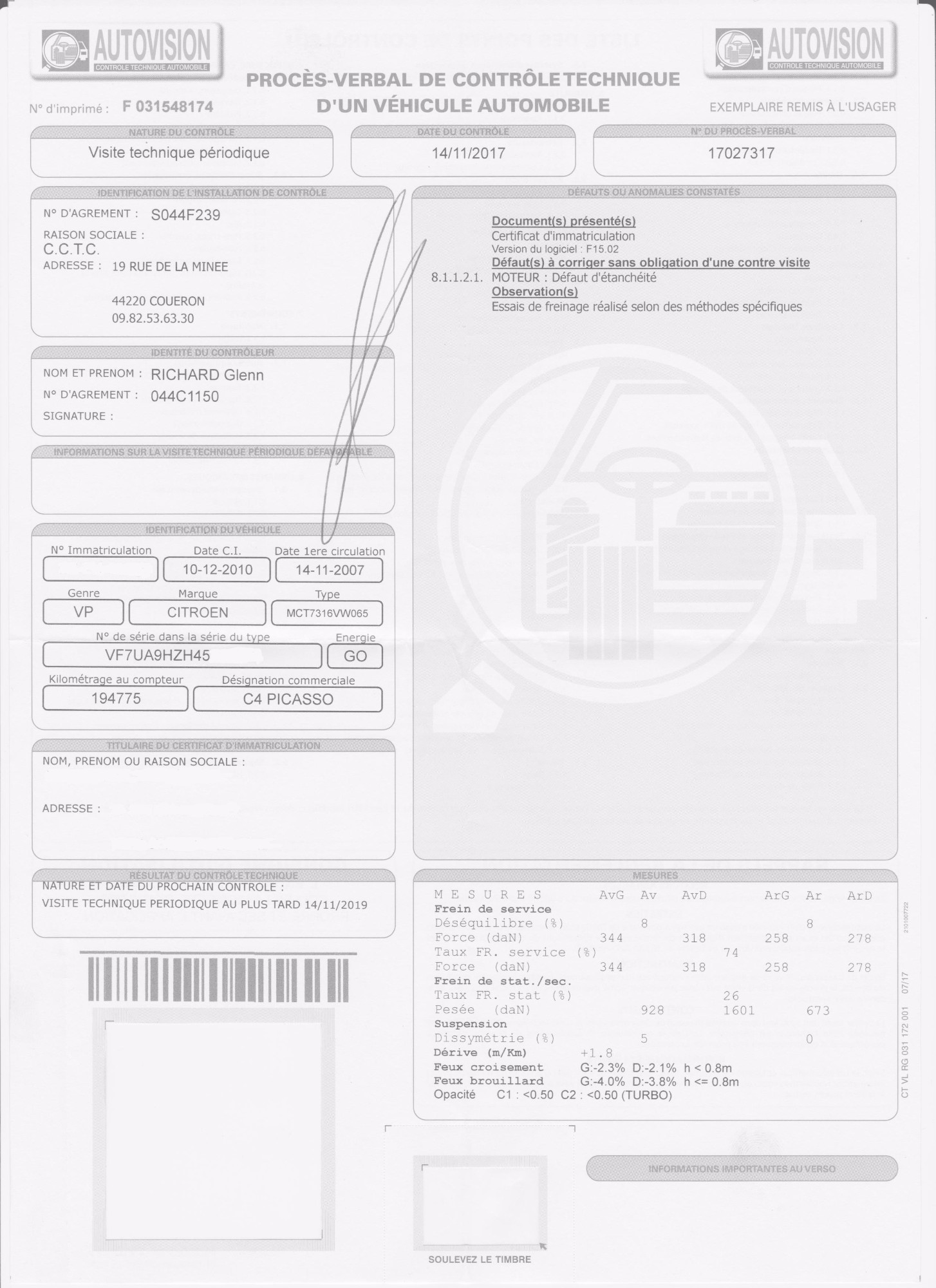 CITROEN Grand C4 Picasso HDi 110 FAP Pack Ambiance BMP6