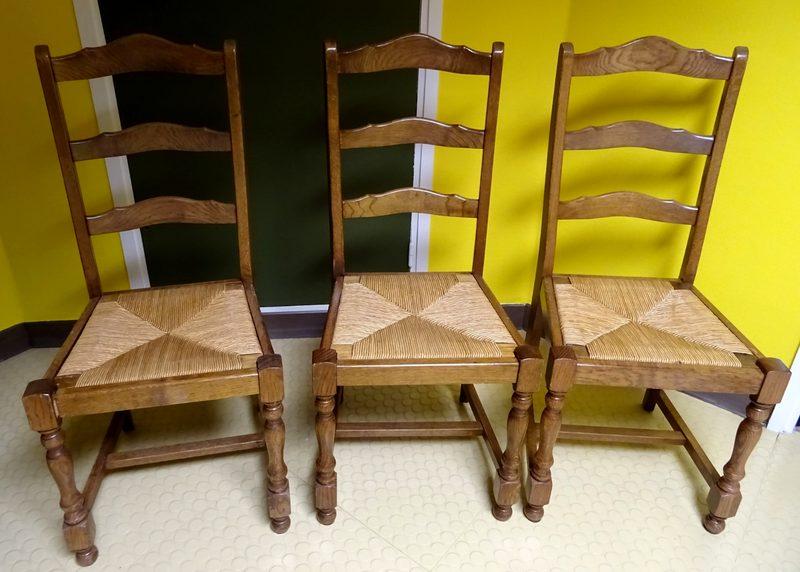 lot de 6 chaises anciennes en bois
