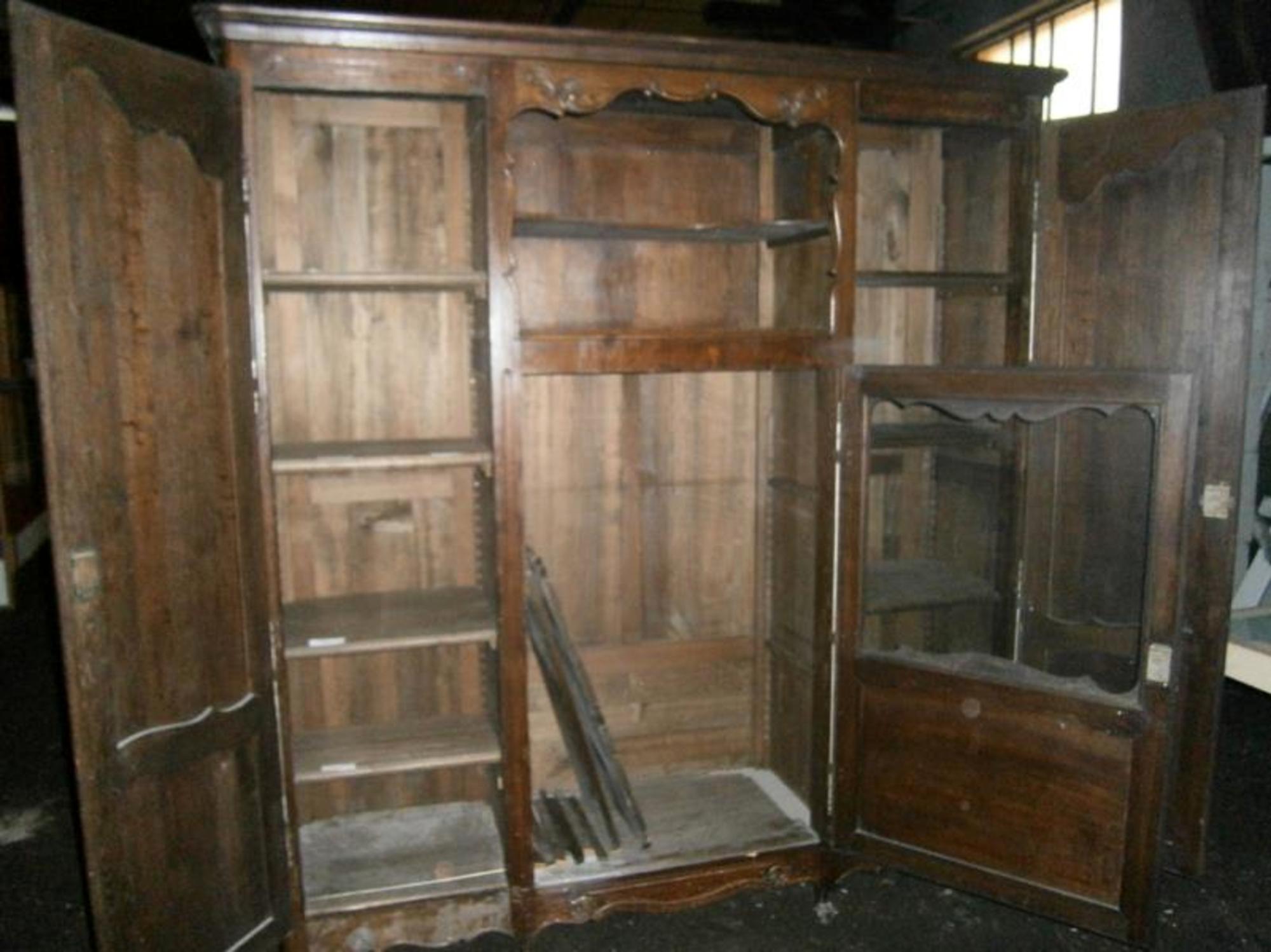 bibliotheque ancienne bois rangement