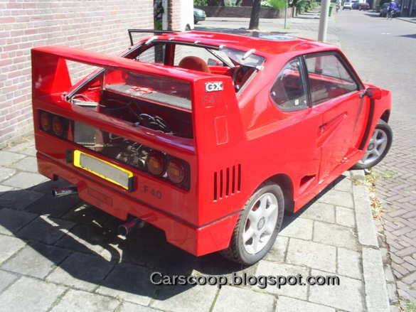 Suzuki SC100GX wordt omgebouwd tot Ferrari F40