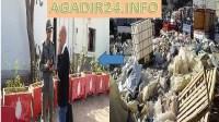 """بالصور: سوق تيكيوين بأكادير:""""كيف كان و كيف ولى"""" بعد زيارة والي الجهة"""