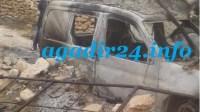 خطير : مجهول يحرق سيارة مستشار جماعي عمدا قبيل فجر العيد بإمسوان.