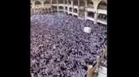 شاهد افواج هائلة من الناس في مكة المكرم