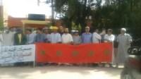 بالصور أيت امزال:فعاليات المجتمع المدني وأعضاء من المجلس ينفذون وقفة احتجاجية!!