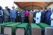 """صور مؤثرة لجنازة الجثت المتفحمة في """"محرقة أمسكرود""""التي اشرفت عليها الوالي زينب العدوي"""