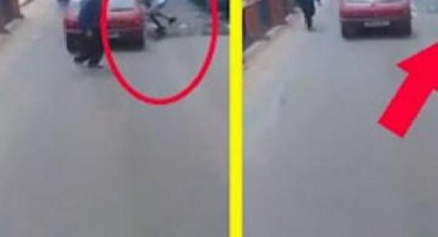 شفار سرق هاتف امرأة من وسط الطاكسي.. شوفو كيفاش!