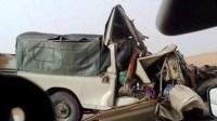 """+صورة:اصطدام قوي بين شاحنة لنقل البنزين و """"كاط كاط"""" يسفر عن ضحايا في حادثة سير خطيرة."""