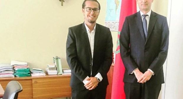 رئيس نادي أكادير يحضى باتسقبال خاص من طرف سفير المغرب بالنمسا.