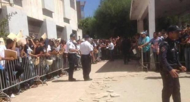 إقبال كثيف للفتيات على مباريات الشرطة بالمغرب