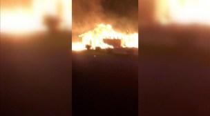 """+فيديو: جريمة كراهية..مسجد وسط السويد يتعرض لحريق """"متعمد"""""""