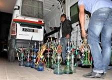أولاد تايمة: الأمن الوطني يداهم مقهى للشيشة و يصادر محتوياته