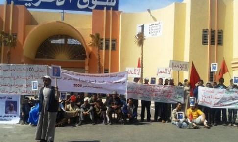 تجار مقصيون من سوق الحرية بانزكان يعلنون اعتصامهم لهذا السبب….