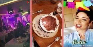 ليلى الحديوي تحتفل بعيد ميلادها بدبي في أجواء صاخبة