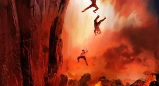 هذا هو مصير الذين يعصون الله عز و جل يوم البعث و النشور.