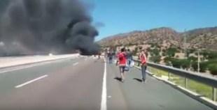 فيديو آخر للحادث المروع بطريق اكادير