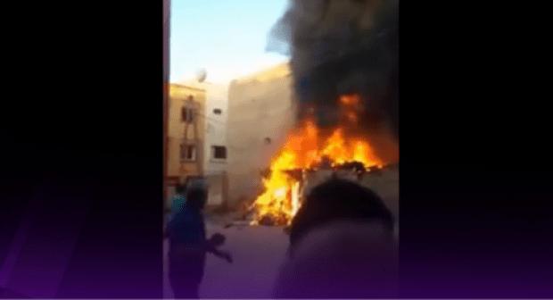 """أكادير:حريق مهول يلتهم """"براكة"""" عشوائية لشخص يمتهن """"الميخالة""""، والسلطات الأمنية تحقق في الحادث"""