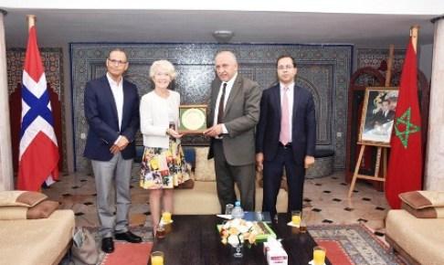أكادير : المالوكي يستقبل سفيرة مملكة النرويج، والطرفان يؤكدان على على ضرورة العمل لتقوية علاقات التعاون بين الجانبين