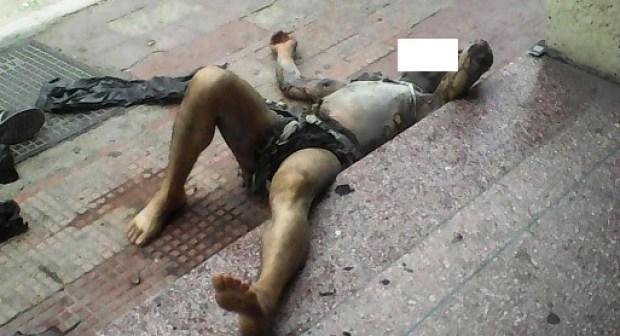 فيديو يوضح كيف أضرم مواطن النار في جسده بأكادير، بعدما طالبته زوجته بالطلاق: