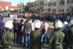 مصالح الأمن تعتقل طالبين بتهمة التجمهر المسلح وتواصل البحث عن آخرين