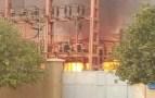 انفجار محول كهربائي يؤدي إلى حريق ضخم بقلب تارودانت
