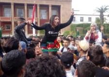 +فيديو: إلى أين تسير احتجاجات التلاميذ: حرق ودس العلم المغربي، و اقتحام الكليات