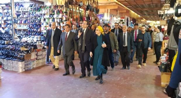 والي سوس ماسة في زيارة تفقدية لنسبة تقدم أشغال تهيئة وترميم سوق الأحد بأكادير
