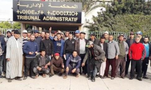 +صور: حضور قوي لتجار إنزكان أمام المحكمة الإدارية بأكادير