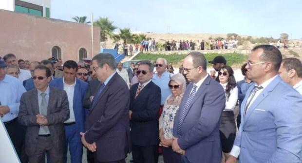 بالصور و الفيديو: الوالي حجي يتفقد عددا من المشاريع الهامة بالشريط الساحلي بأكادير.