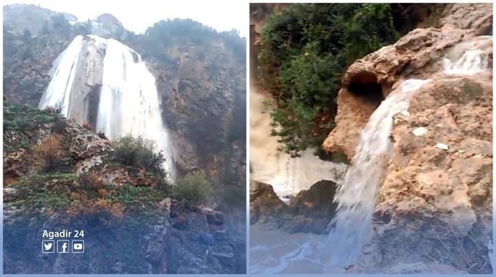 أروع المناظر من شلالات إيموزار بأكادير