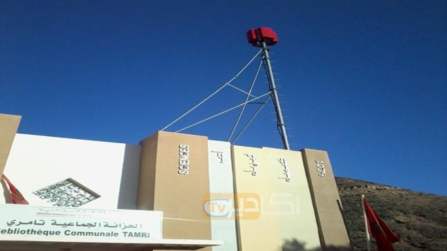 """أكادير: مواطنو التامري يصفون لاقط هوائي خاص بالبث الأرضي بــ""""الديكور"""""""