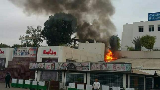 حريق مهول يندلع وسط ملهى ليلي في المنطقة السياحية بأكادير