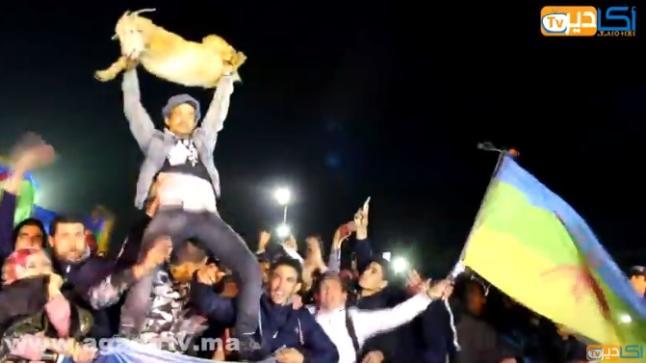 """""""عنزة الدشيرة"""" التي خلقت الحدث في حفل رأس السنة الأمازيغية بأكادير"""