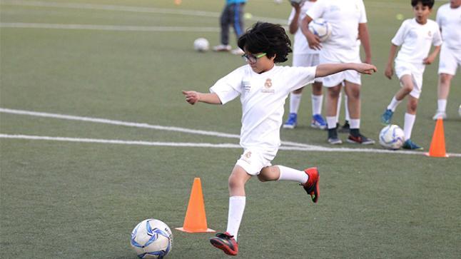 200 طفل يستفيدون من المعسكر التدريبي لريال مدريد بأكادير