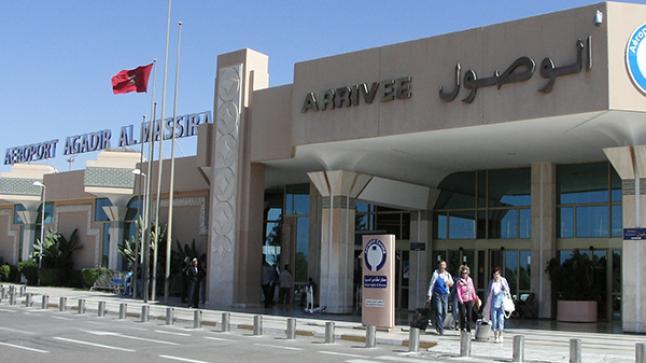ارتفاع عدد المسافرين الذين استعموا مطار أكادير المسيرة مطلع العام الجاري