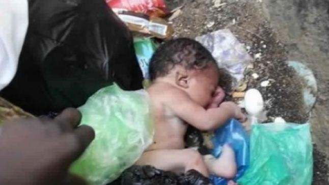 العثور على رضيعة حديثة الولادة في كيس بلاستيكي بالقليعة