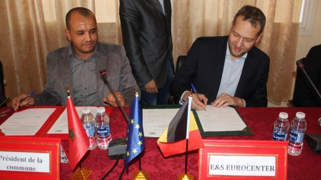 توقيع اتفاقية بين جماعة قروية بتيزنيت ومنظمة بلجيكية لتنفيد مشاريع تنموية (صور)