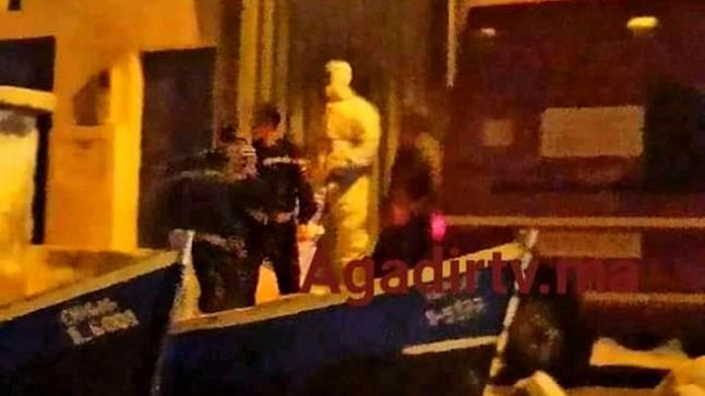 طاقم طبي يحل بتغازوت ضواحي أكادير لاحتمال إصابة شخص بفيروس كورونا (صور)
