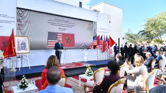 وفد أمريكي رفيع المستوى يزور مقر القنصلية الأمريكية بمدينة الداخلة المغربية