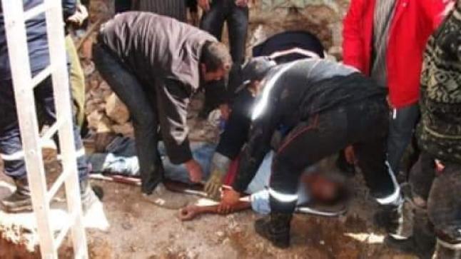 سقوط عامل من أعلى ورش للبناء بأولاد تايمة