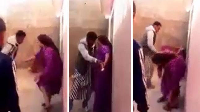 درك شيشاوة يعتقل رجلا ظهر في فيديو يعنف زوجته أمام ابنه بمزوضة