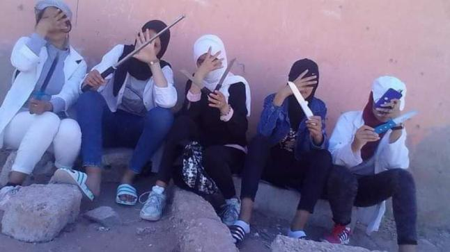 """ارتفاع عدد التلميذات المعتقلات في قضية """"فيديو الأسلحة البيضاء"""" ضواحي أكادير"""