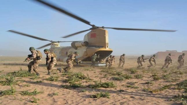"""طانطان .. اختتام التدريبات العسكرية ومناورات """"الأسد الافريقي 2021 """""""