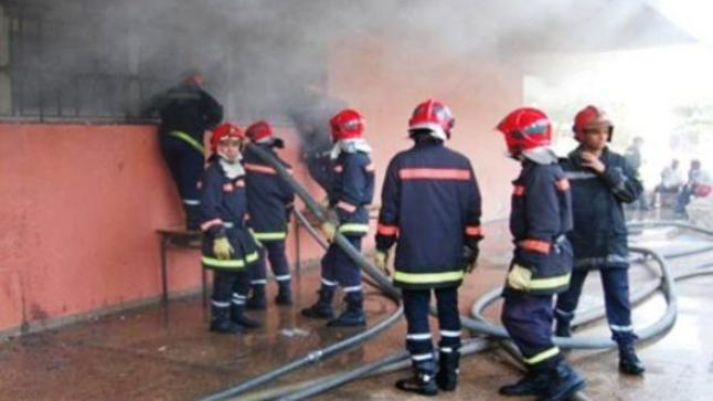 """""""مول تريبورتور"""" يتسبب في حريق مهول ويقطع الانترنت عن حي بأكادير"""
