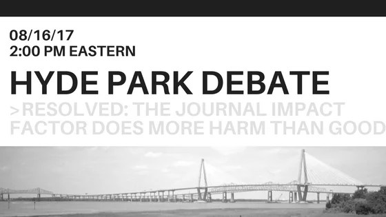 Free Live Webcast: Charleston Conference Hyde Park Debate