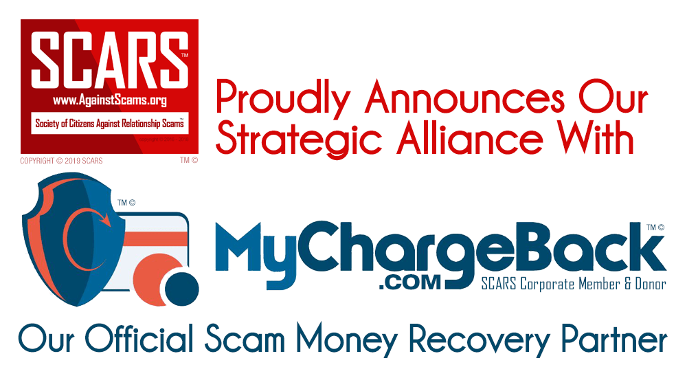 SCARS Proudly Announces Our Strategic Alliance With MyChargeBack.com For Scam Monies Recovery